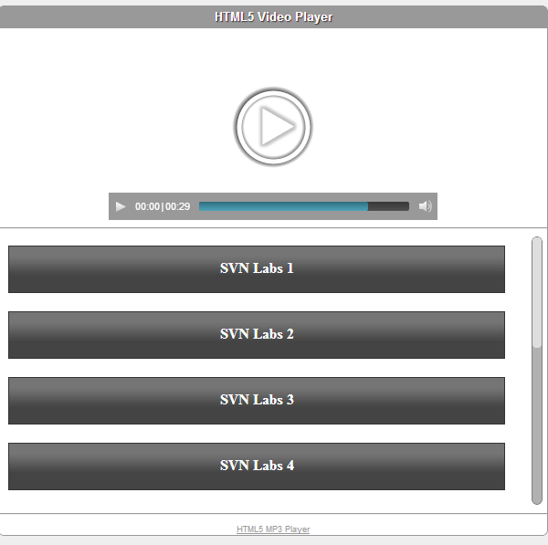 Amazon Cloudfront HTML5 Video Player with Playlist