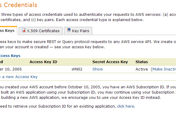Amazon S3 Keys Amazon Web Services
