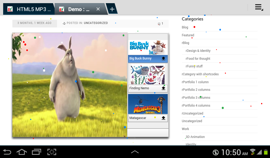 Android : HTML5 Video Player with Playlist