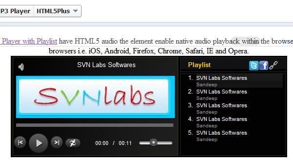 Facebook-HTML5-MP3-Player