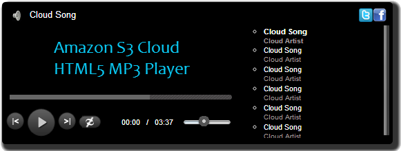HTML5 MP3 Cloud Player