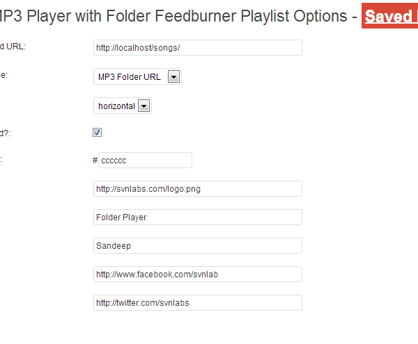 HTML5 MP3 Player with Folder Feedburner Playlist Options