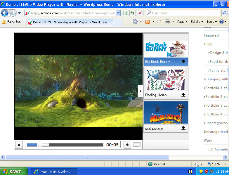 IE : HTML5 Video Player with Playlist