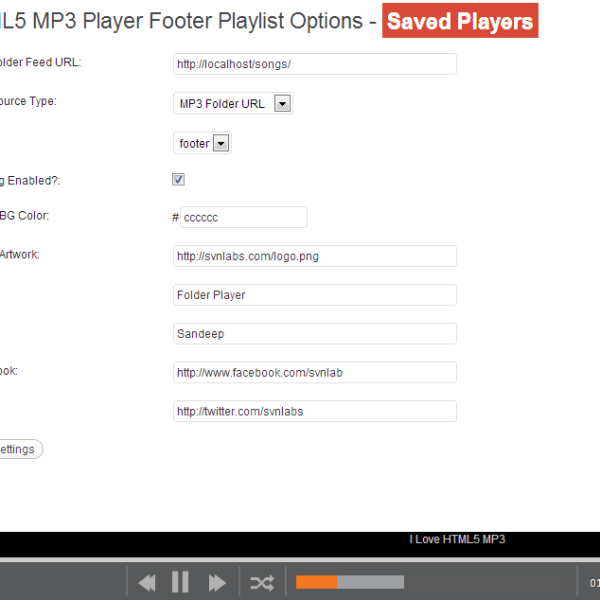 WordPress HTML5 MP3 Footer Player