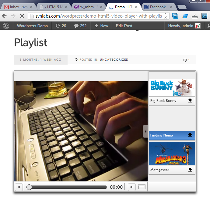 Chrome : HTML5 Video Player with Playlist