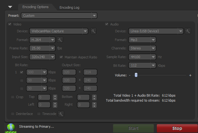 FMLE Settings Live Stream for Mobile on Kaltura Red5