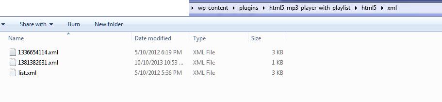Backup-Playlist-XML-files