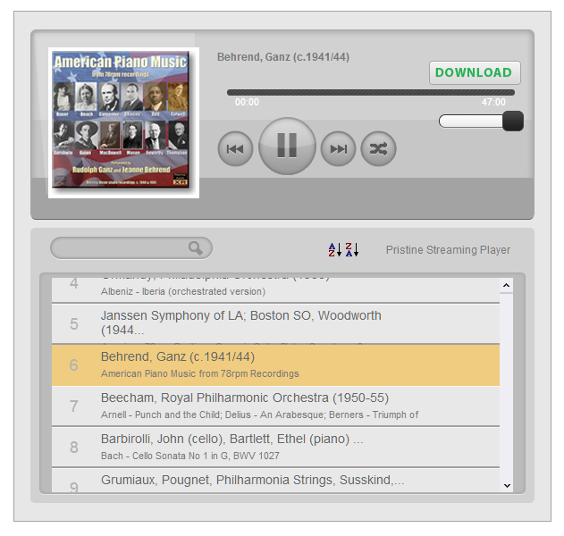 HTML5 MP3 Player with Search and Sort Playlist