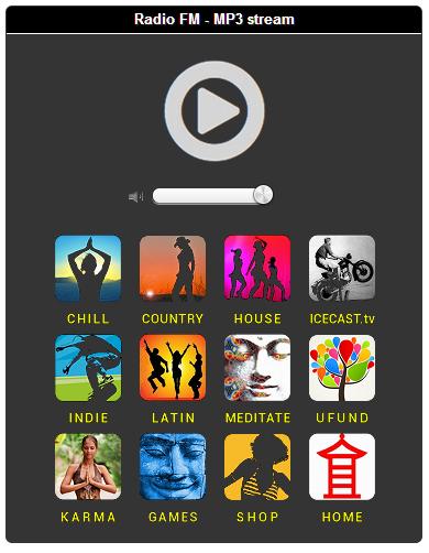 HTML5 Responsive MP3 Shoutcast Icecast Stream player